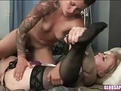Brunette Dyke Drives Nina Hartley Crazy 3